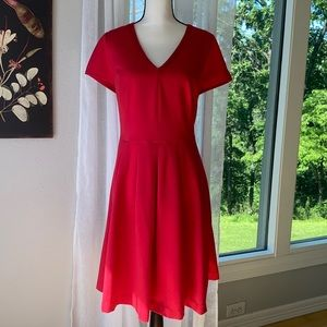 Boden Red Vintage Style Fit and Flare Dress